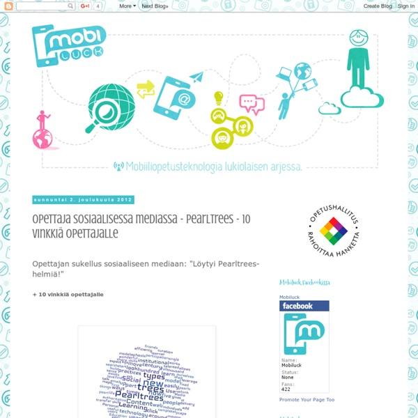 Opettaja sosiaalisessa mediassa - Pearltrees - 10 vinkkiä opettajalle