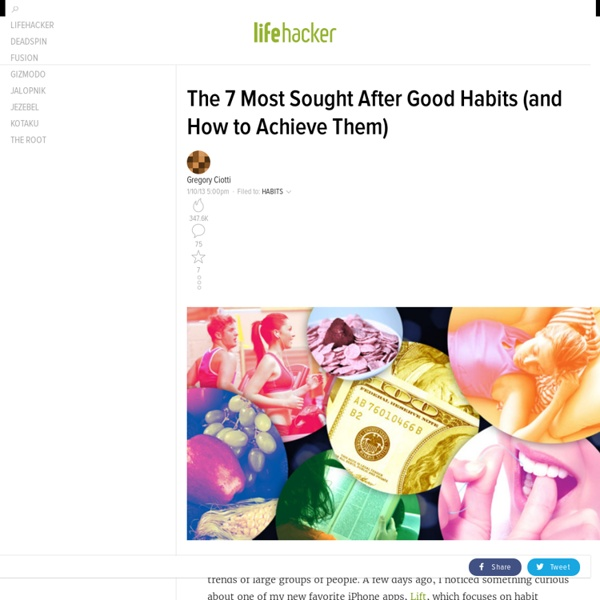 The 7 Most Sought After Good Habits (and How to Achieve Them)