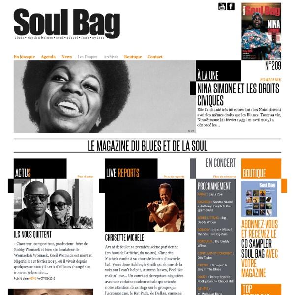 Soul Bag - Le Magazine Français du Blues et de la Soul depuis 1968 - Accueil