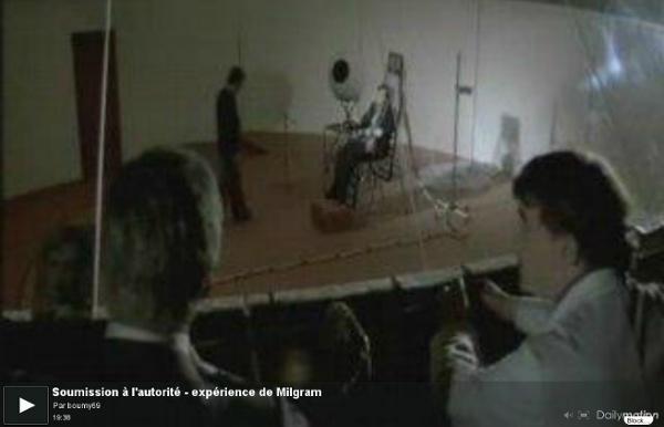 Soumission à l'autorité - expérience de Milgram