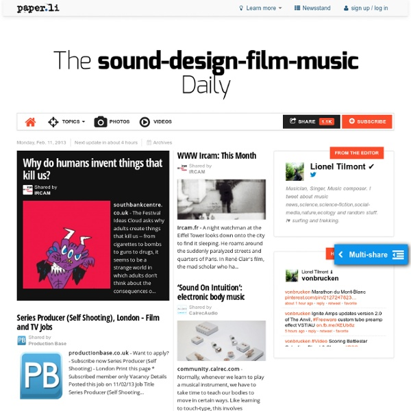 The sound-design-film-music Daily