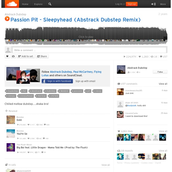 Passion Pit - Sleepyhead (Abstrack Dubstep Remix) by Abstrack Dubstep