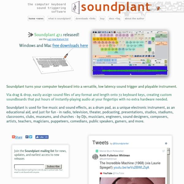 Soundplant: computer keyboard sample triggering for Windows & Mac