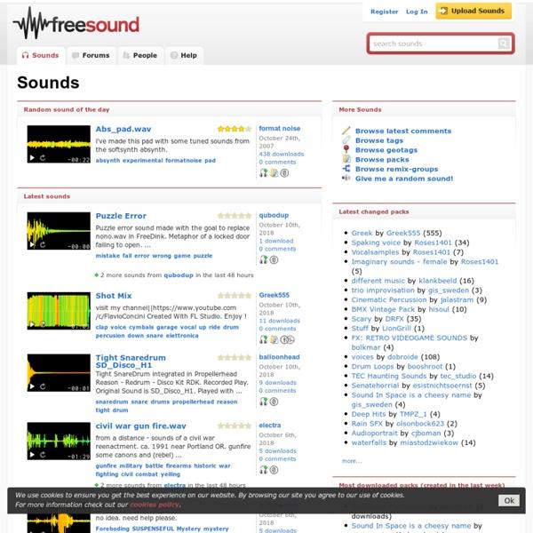Banco de sonidos de dominio público o con licencia Creative Commons