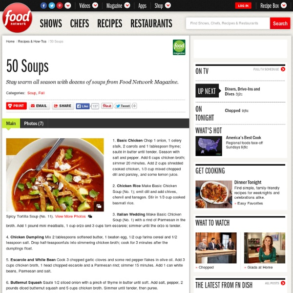 50 Easy Soups (1 - 10) : Recipes and Cooking