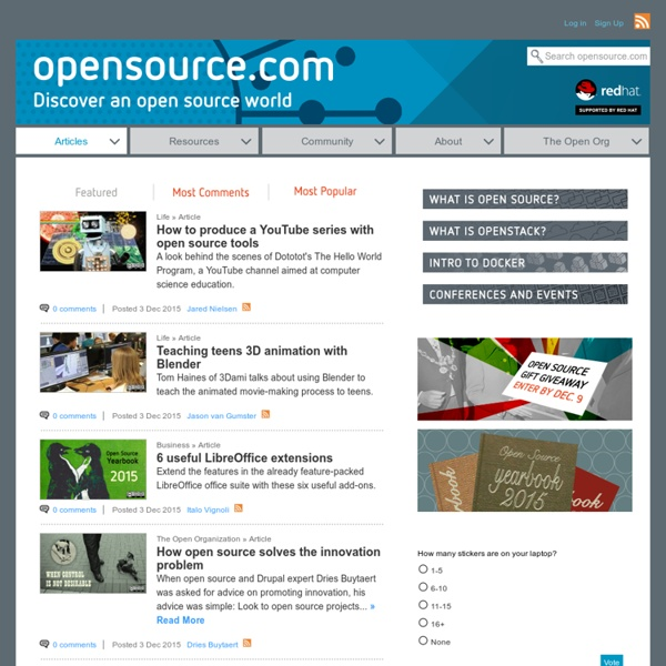 Open source is changing the world: join the movement