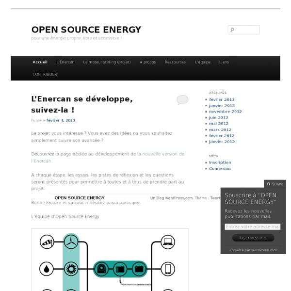 Open Source Energy - Générateur monophasé