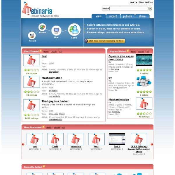 Webinaria - Free open source screen recording software