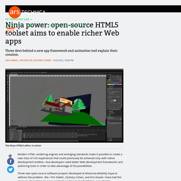 Ninja power: open-source HTML5 toolset hopes to unleash the Web