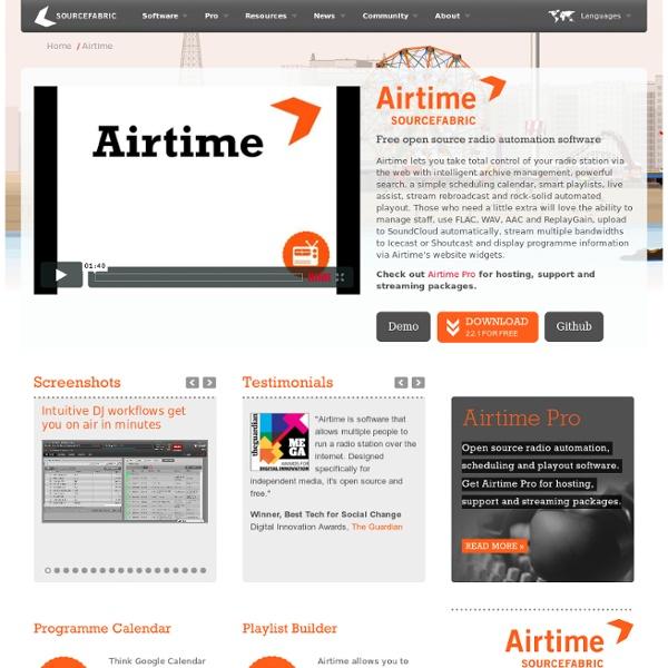 Airtime - Diffuser un contenu audio sur Internet
