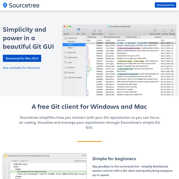 Free Git and Hg Client for Mac and Windows