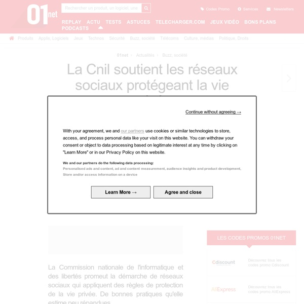 La Cnil soutient les réseaux sociaux protégeant la vie privée