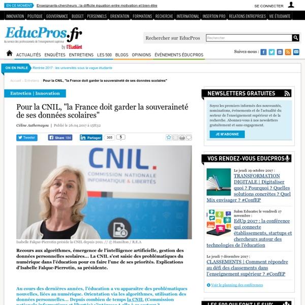 """Pour la CNIL, """"la France doit garder la souveraineté de ses données scolaires"""""""