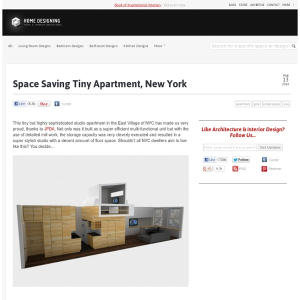Space Saving Tiny Apartment, New York