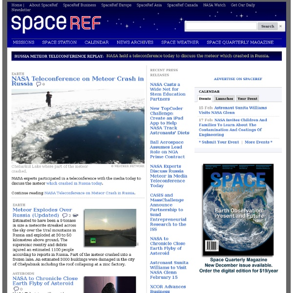 Space News as it Happens - Brought to you by SpaceRef