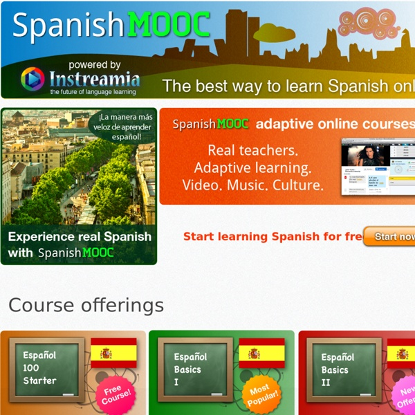 The first open online Spanish course for everyone
