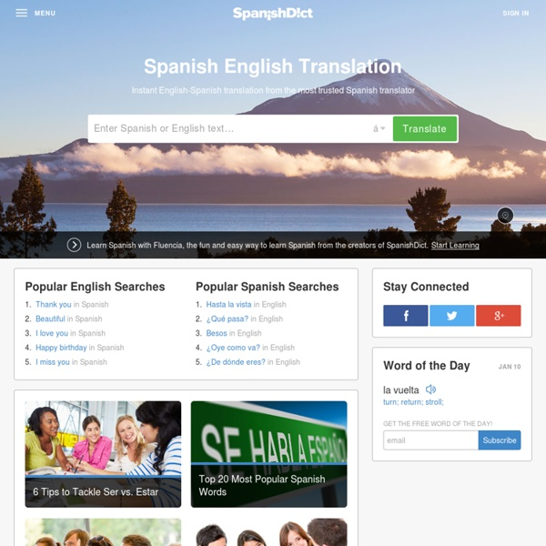 Spanish to English to Spanish Translator | Pearltrees - photo#19