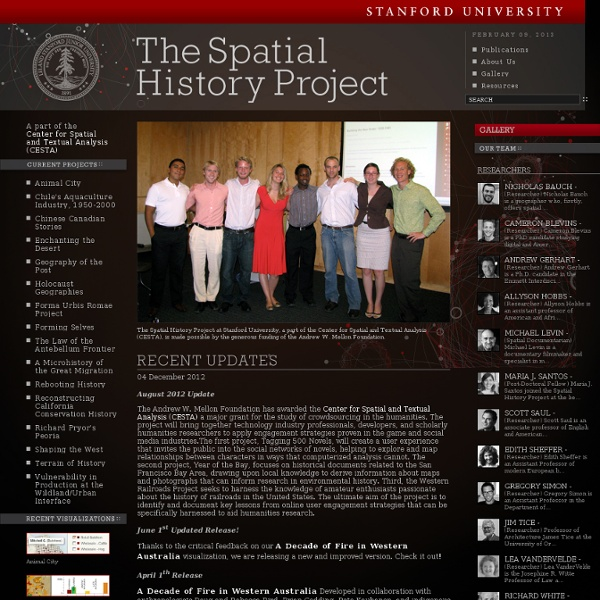 Spatial History Project