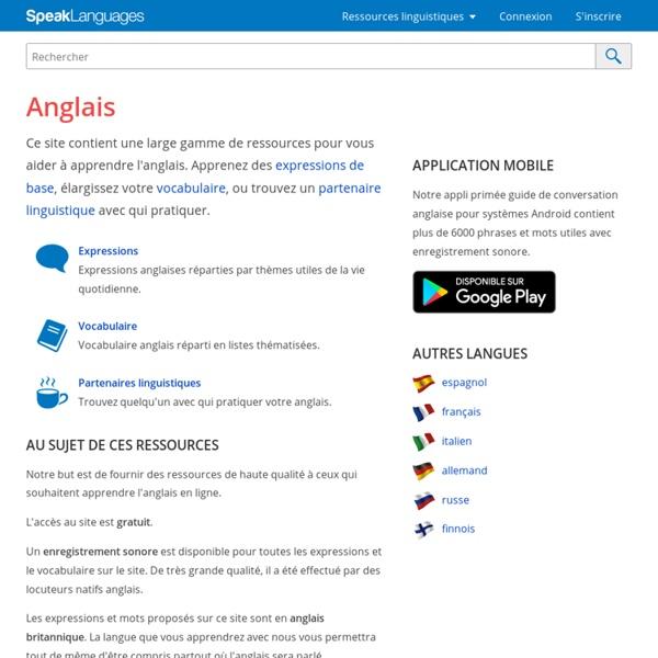 Speak English! ANGL.BRITANNIQUE