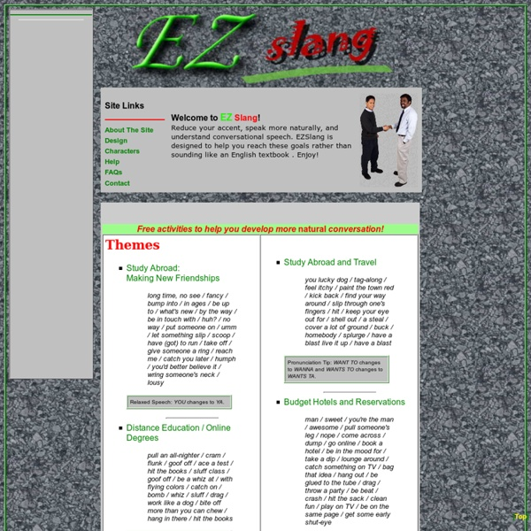 EZ Slang: Speaking Effective English and Accent Reduction Training