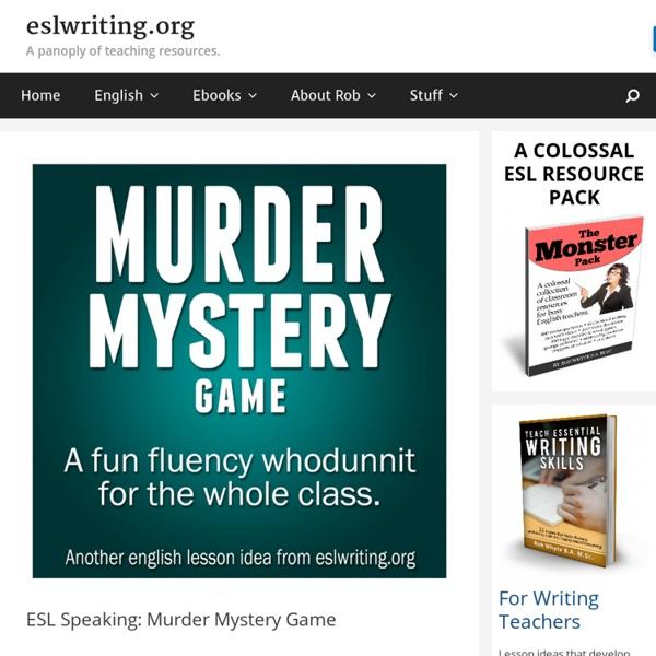 ESL Speaking Murder Mystery Game