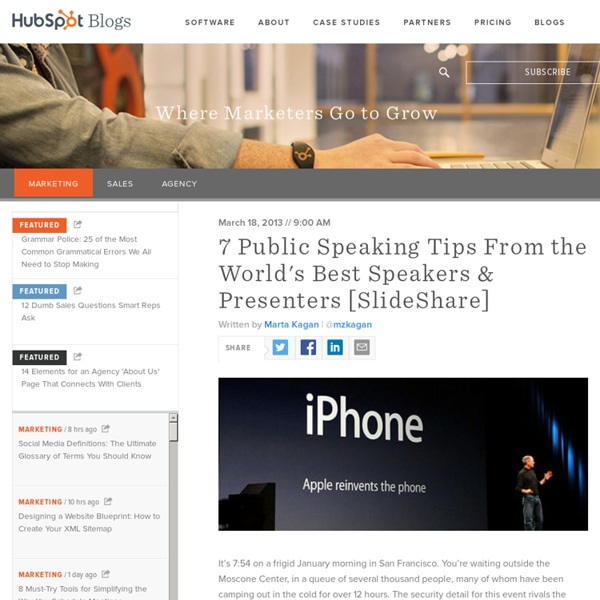 7 Lessons From the World's Most Captivating Presenters [SlideShare]