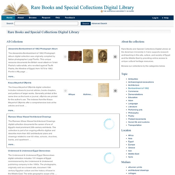 Rare Books and Special Collections Digital Library
