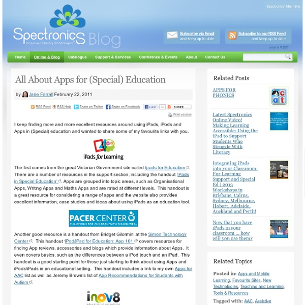 All About Apps for (Special) Education
