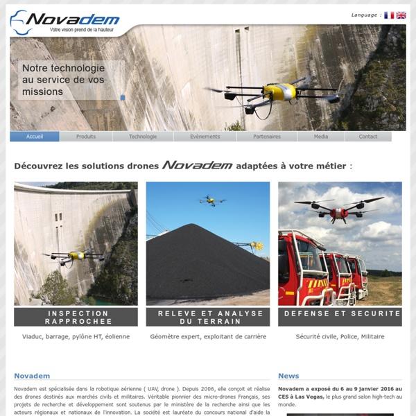 Novadem - Spécialisée dans la robotique aérienne ( UAV / drone )