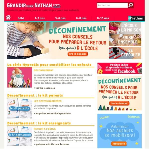 Le site des spécialistes de l'éducation et de l'enfance pour accompagner les parents et les enfants : conseils, jeux, activités, dossiers gratuits et en ligne, forum…