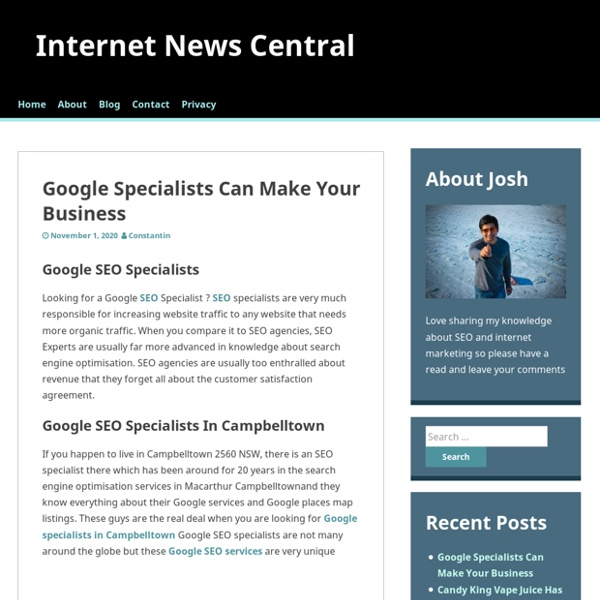 Google Specialists Can Make Your Business – Internet News Central