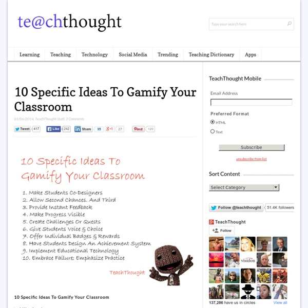 10 Specific Ideas To Gamify Your Classroom -
