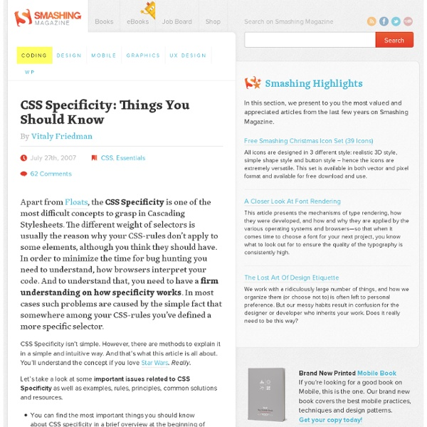 CSS Specificity: Things You Should Know - Smashing Magazine