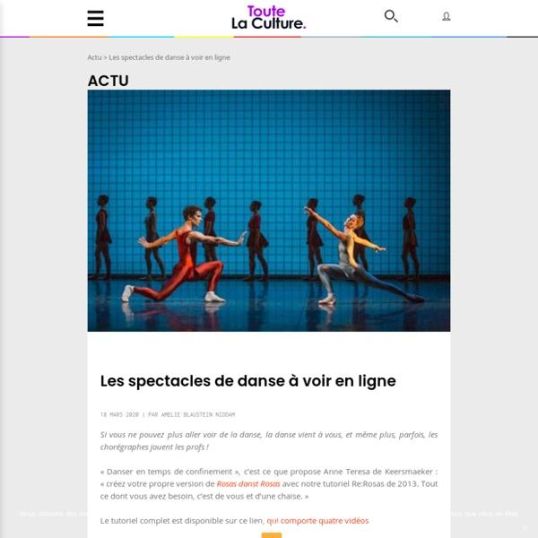 Les spectacles de danse à voir en ligne