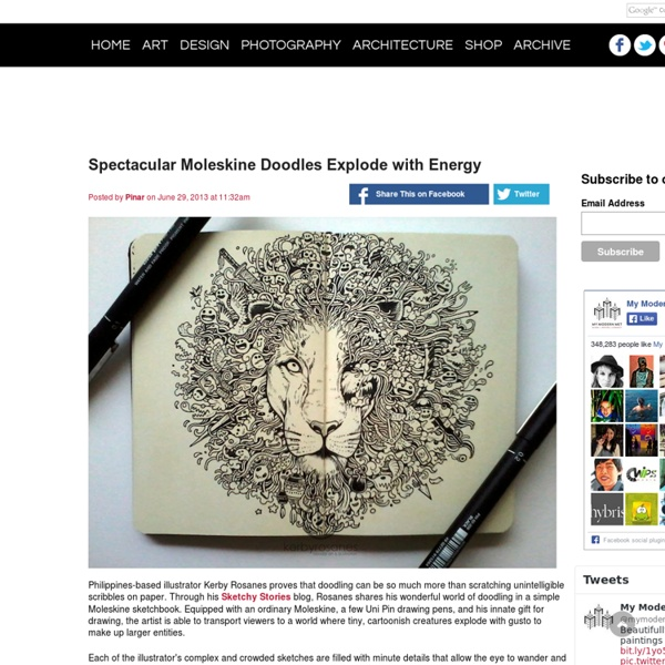 Spectacular Moleskine Doodles Explode with Energy - My Modern Met