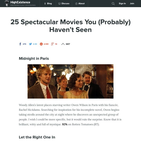 25 Spectacular Movies You (Probably) Haven't Seen