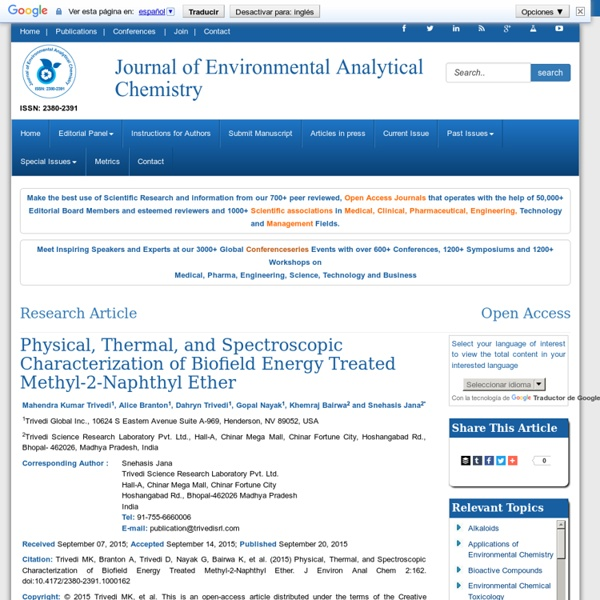 Biofield Energy Treated Methyl-2-Naphthyl Ether