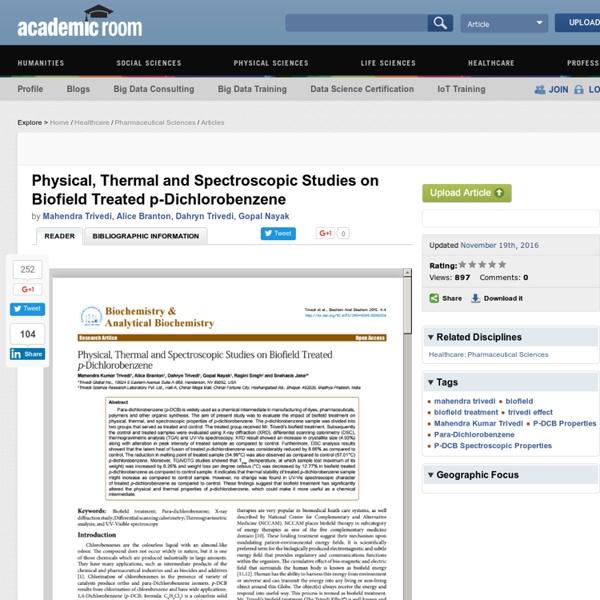 Impact of Human Energy Treatment on p-DCB