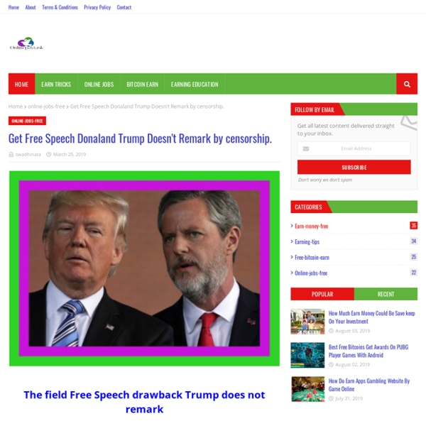 Get Free Speech Donaland Trump Doesn't Remark by censorship.