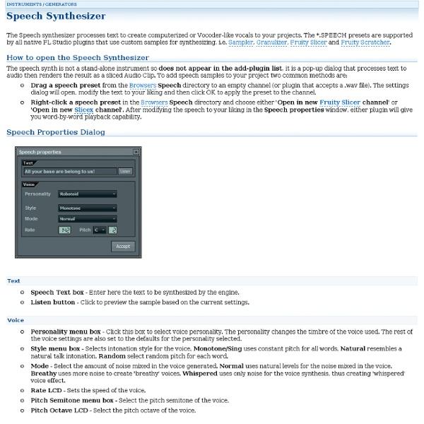 Speech Synthesizer - Generator