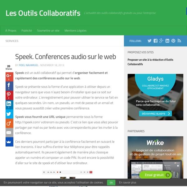 Speek. Conferences audio sur le web