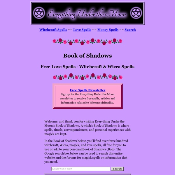 Witchcraft Spells, Free spells, Wicca and Love Spells
