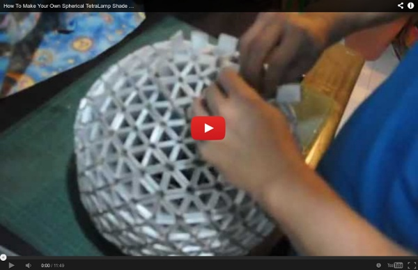 How To Make Your Own Spherical TetraLamp Shade ( Part 2 of 2 )