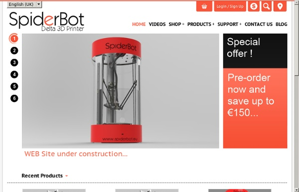 SpiderBot Reprap based 3D Printer with delta technology