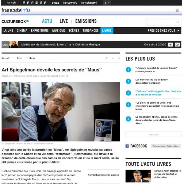 """Art Spiegelman dévoile les secrets de """"Maus"""""""