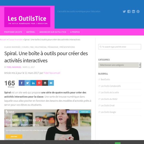 Spiral. Une boîte à outils pour créer des activités interactives – Les Outils Tice