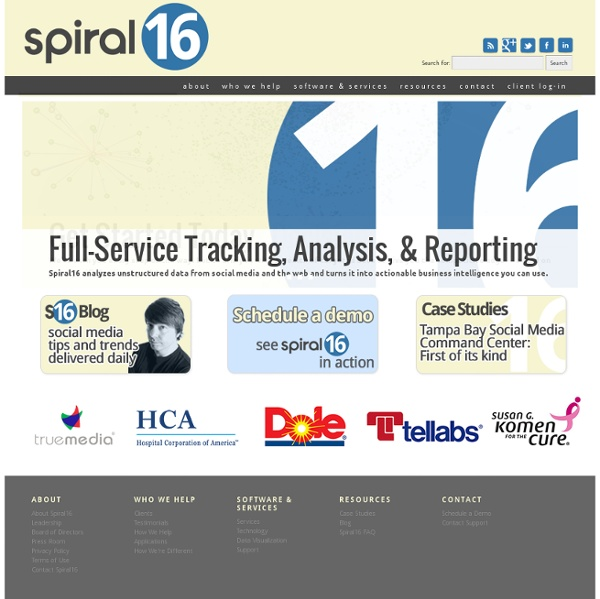 Spiral16 Monitoring Software for Web and Social Media Monitoring