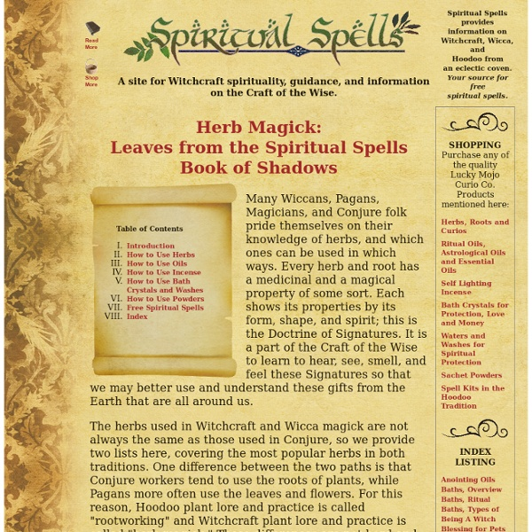 Spiritual Spells: Herbal Magick Book of Shadows