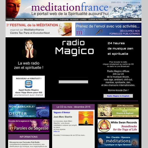 Radio Magico, web radio zen et spirituelle, musique douce et méditations