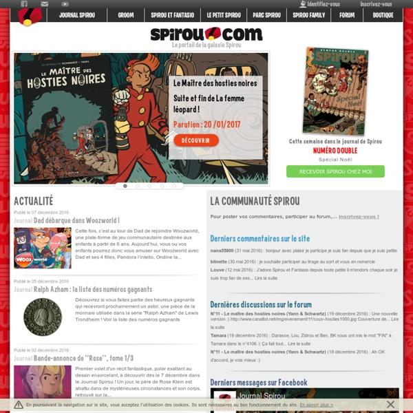 Spirou.com Tout sur Spirou !